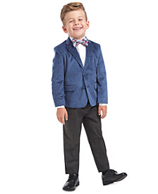 Nautica Little Boys Regular-Fit 4-Pc. Polka Dot Velvet Suit Set