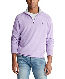Men's Double-Knit Mockneck Quarter-Zip Pullover