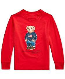 Little Boys Sweater Bear Cotton Long-Sleeve T-Shirt, Created For Macy's