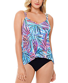 Swim Solutions High-Low Tankini Top & Bottoms, Created for Macy's