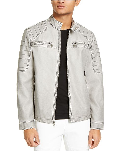 INC International Concepts INC Men's Faux-Leather Moto Jacket, Created For Macy's