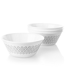 Boutique 21.5 Ounce Bowl Farmstead Dark Grey 4 Pack