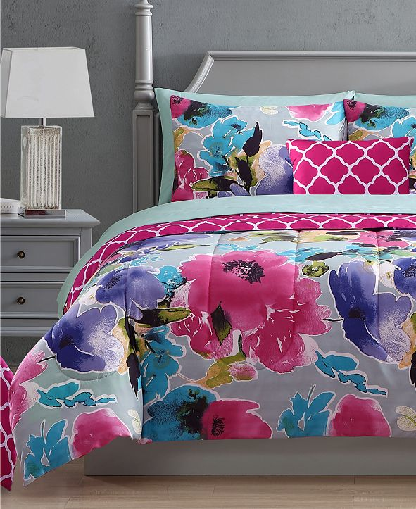 Hallmart Collectibles Ada 12-Pc. Reversible Comforter Sets