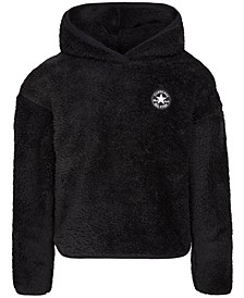 Big Girls Logo-Patch Fleece Hoodie