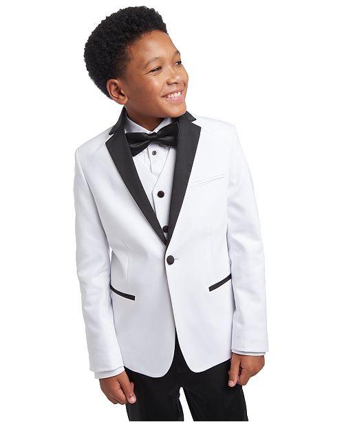 Calvin Klein Big Boys Slim-Fit White Tuxedo Jacket