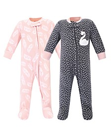 Girl Fleece Sleep and Play 2 Pack