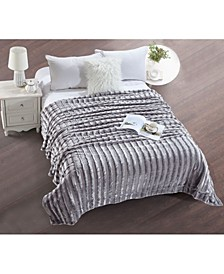 Striped Super Soft Blanket - Full Queen