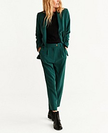 Unstructured Suit Blazer