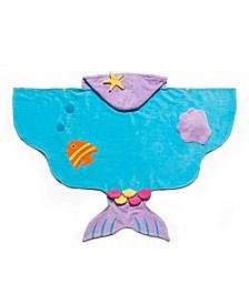Little and Big Girl Mermaid Towel