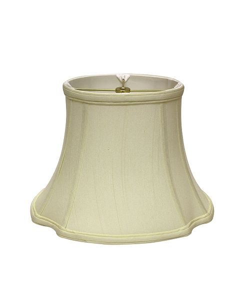 Cloth&Wire Slant Inverted Corner Oval Softback Lampshade with Washer Fitter