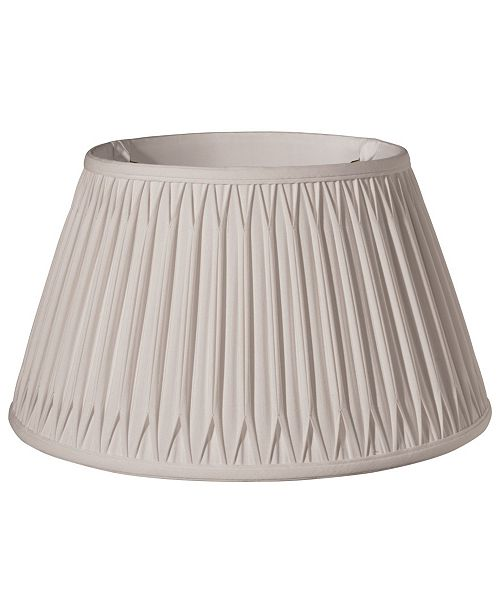 Cloth&Wire Slant Shallow Drum with Double Smocked Pleat Softback Lampshade