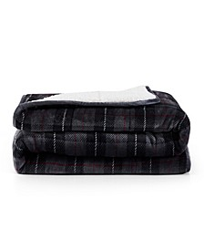 Rejuve 10lb Shiny Flannel Sherpa Weighted Blanket