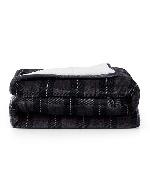 rejuve Rejuve 10lb Shiny Flannel Sherpa Weighted Blanket