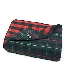 Ridgeline Lodge Tartan Dark Green Blanket