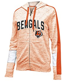 Women's Cincinnati Bengals Space Dye Full-Zip Hoodie
