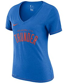 Women's Oklahoma City Thunder Dri-Fit V-neck T-Shirt