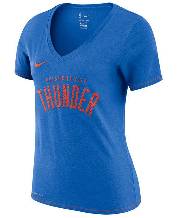 Nike Women's Oklahoma City Thunder Dri-Fit V-neck T-Shirt