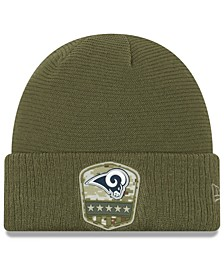 Los Angeles Rams On-Field Salute To Service Cuff Knit Hat