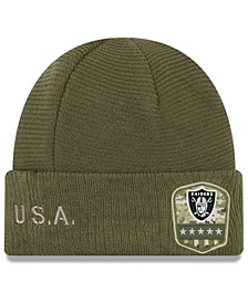 Oakland Raiders On-Field Salute To Service Cuff Knit Hat