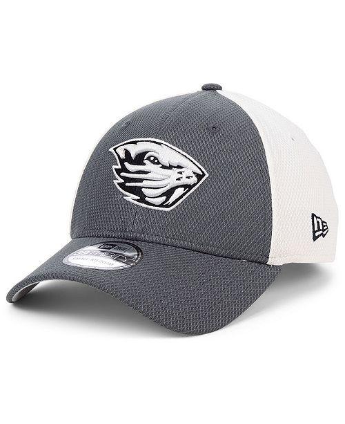 New Era Oregon State Beavers Gray White Diamond Era 39THIRTY Stretch Fitted Cap