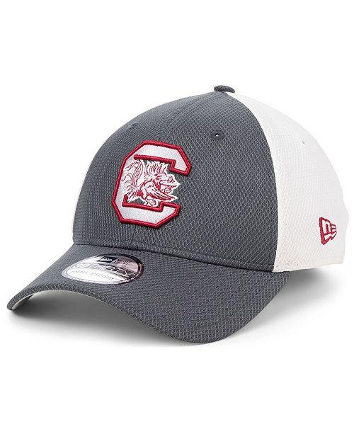 New Era South Carolina Gamecocks Gray White Diamond Era 39THIRTY Stretch Fitted Cap