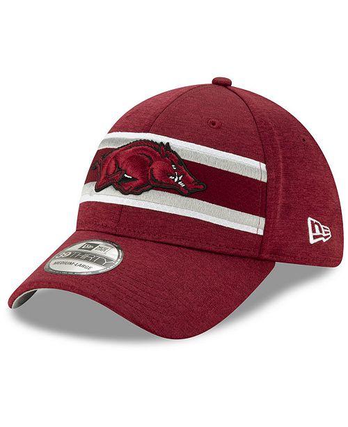 New Era Arkansas Razorbacks Team Color Stripe 39THIRTY Cap