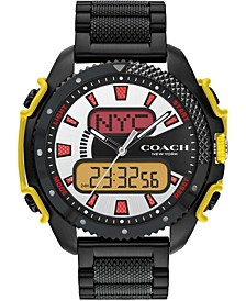 Men's Analog-Digital C001 Black Stainless Steel Bracelet Watch 46mm, A Limited Edition