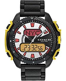 Men's Analog-Digital C001 Black Stainless Steel Bracelet Watch 46mm, A Limited Edition