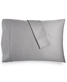 Bergen House Woven Diamond Dot Standard Pillowcases 1000-Thread Count 100% Certified Egyptian Cotton
