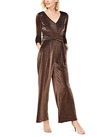 Ruched Glitter Jumpsuit