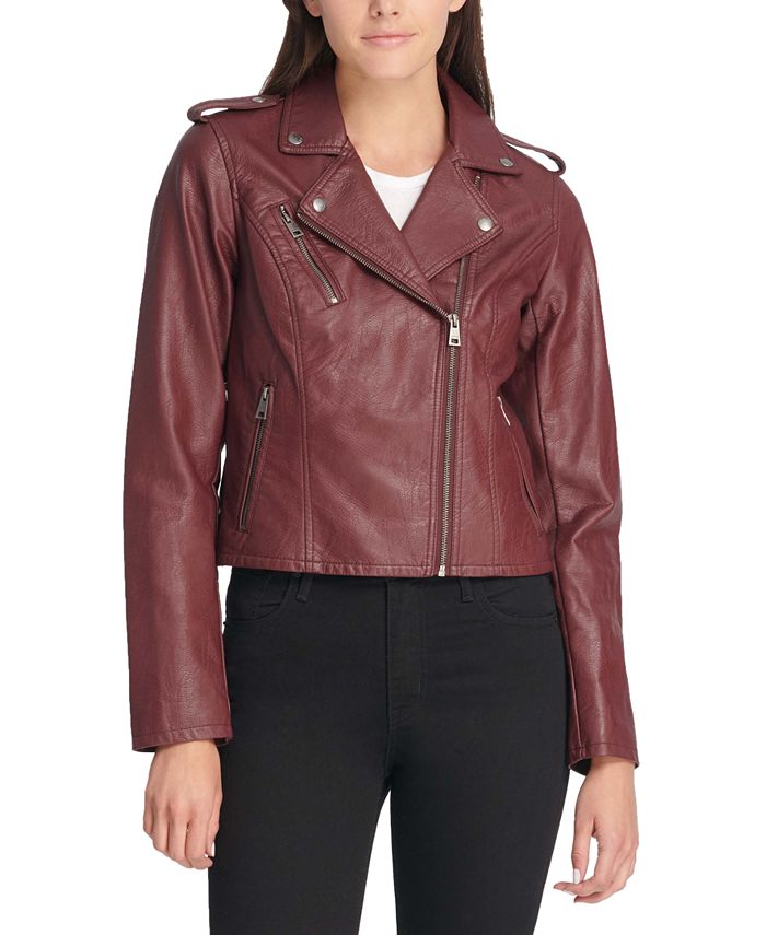 Levi's - Faux-Leather Moto Jacket