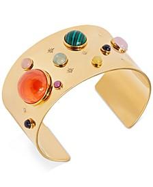 Gold-Tone Stone Cuff Bracelet
