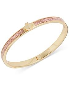 Glittery Thin Bangle Bracelet