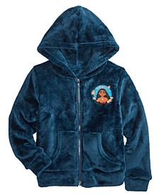 Little Girls Moana Flowers Zip Woobie Hoodie