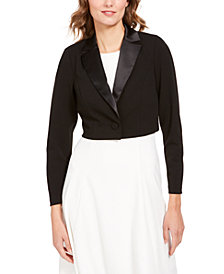 Adrianna Papell Notched-Lapel Bolero Jacket