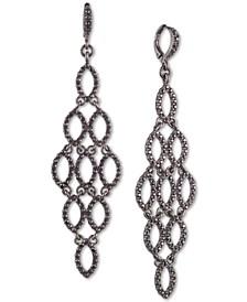 Pavé Openwork Chandelier Earrings