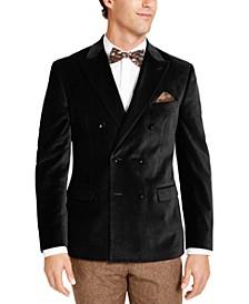 Men's Slim-Fit Velvet Double-Breasted Sport Coat, Created for Macy's