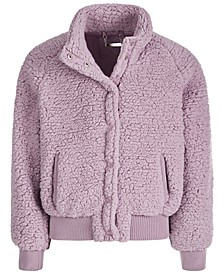 Big Girls Fleece Snap Jacket
