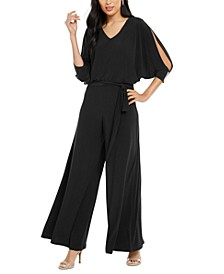 Embellished Cold-Shoulder Jumpsuit