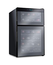 24 Bottle Wine Cooler Dual Zone