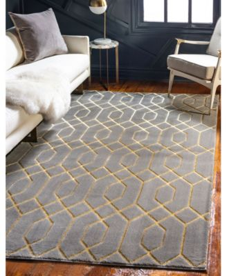 Glam Mmg001 Gray/Gold 2' x 3' Area Rug