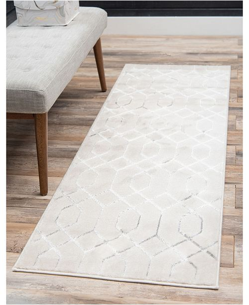 Marilyn Monroe Glam Mmg001 White/Silver 2' x 10' Area Rug