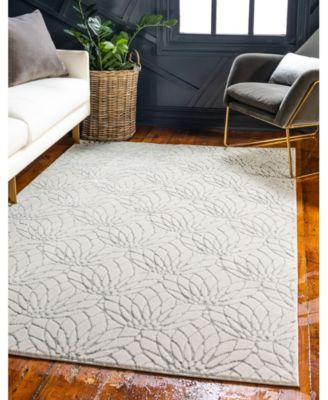 Glam Mmg003 White/Silver 4' x 6' Area Rug