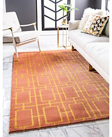 Glam Mmg002 Coral/Gold 9' x 12' Area Rug
