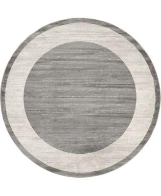 Yorkville Uptown Jzu007 Gray 8' x 8' Round Rug