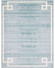 Lenox Hill Uptown Jzu005 Turquoise 8' x 10' Area Rug