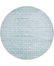 Park Avenue Uptown Jzu004 Blue 8' x 8' Round Rug