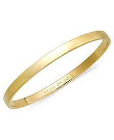 kate spade new york Bracelet, 12k Gold-Plated Heart of Gold Idiom Bangle Bracelet