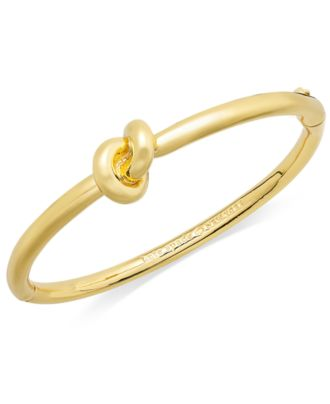 kate spade new york Bracelet, Sailor's Knot Hinge Bangle Bracelet
