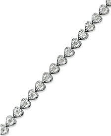 Diamond Heart Bracelet (1/2 ct. t.w.) in Sterling Silver